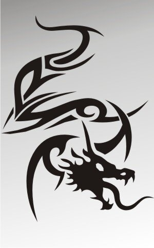 MO26 Drachen Aufkleber Drache Autoaufkleber Dragon Sticker