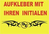 Tribal Aufkleber mit Ihrem Initialen oder Name, Aufkleber...
