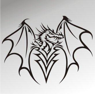MO33 Drachen Aufkleber Drache Autoaufkleber Dragon Sticker