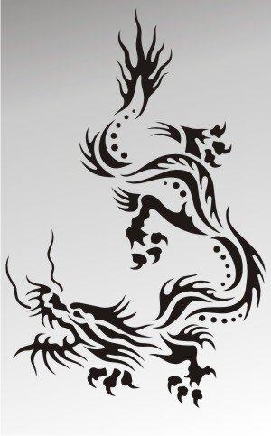 MO36 Drachen Aufkleber Drache Autoaufkleber Dragon Sticker