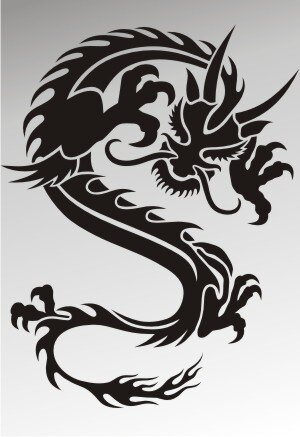 MO45 Drachen Aufkleber Drache Autoaufkleber Dragon Sticker