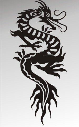MO47 Drachen Aufkleber Drache Autoaufkleber Dragon Sticker