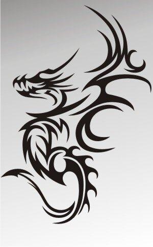 MO51 Drachen Aufkleber Drache Autoaufkleber Dragon Sticker