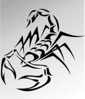 MO03 Skorpion Aufkleber Skorpionaufkleber Scorpion Sticker