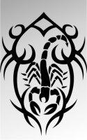 MO04 Skorpion Aufkleber Skorpionaufkleber Scorpion Sticker