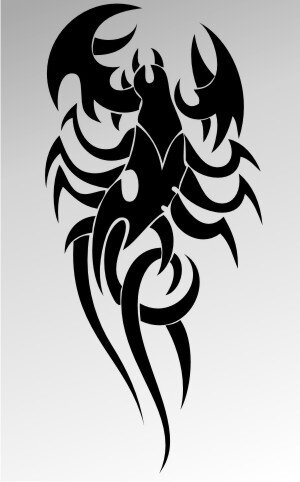 MO08 Skorpion Aufkleber Skorpionaufkleber Scorpion Sticker