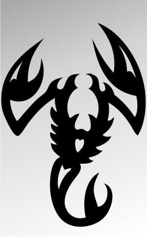 MO12 Skorpion Aufkleber Skorpionaufkleber Scorpion Sticker