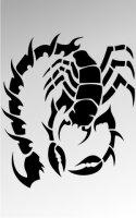 MO15 Skorpion Aufkleber Skorpionaufkleber Scorpion Sticker