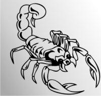 MO18 Skorpion Aufkleber Skorpionaufkleber Scorpion Sticker