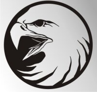 MO04 Adleraufkleber Eagle Autoaufkleber