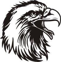 MO05 Adleraufkleber Eagle Autoaufkleber