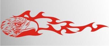Adler Flammen Aufkleber MO02