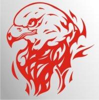 Adler Flammen Aufkleber MO04