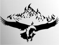 Adler Flammen Aufkleber MO06