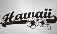 MO44 Hawaii Beach Sticker, Blumen Hibiskus Aufkleber