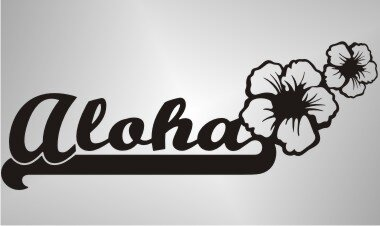 MO50 Hawaii Beach Sticker, Blumen Hibiskus Aufkleber