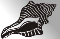 Conch Fisch Aufkleber Sticker Angeln