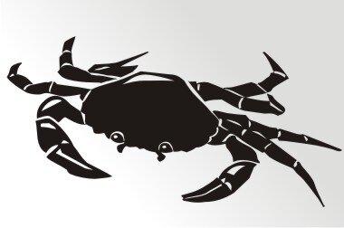 Krabbe Aufkleber Sticker Angeln