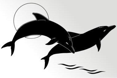 Delfine Aufkleber Sticker Angeln