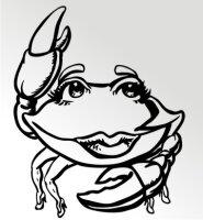 Lady Krabben Aufkleber Sticker Angeln