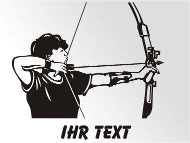 Bogenschütze Aufkleber Autoaufkleber mit Text
