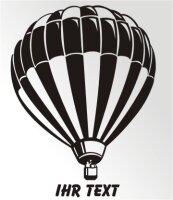 Ballon Aufkleber Autoaufkleber mit Text