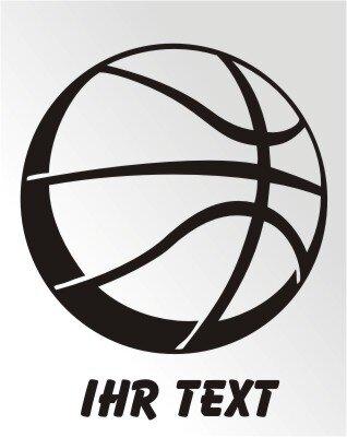 Basketball Aufkleber Autoaufkleber mit Text, Ball Sticker
