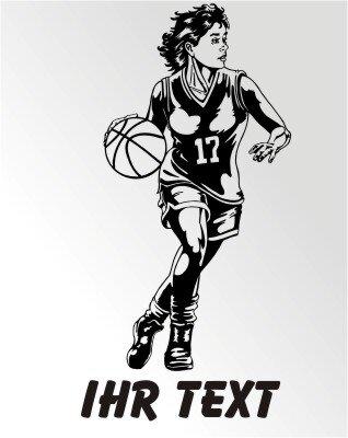 Basketball Girl Aufkleber Autoaufkleber mit Text MO02