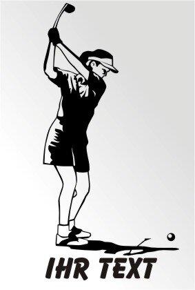 Golfspielerin Aufkleber Golf Sport Sticker mit Text MO02