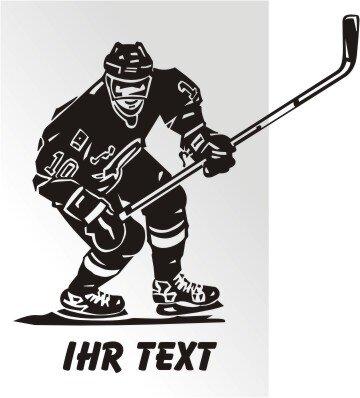Hockey Aufkleber Autoaufkleber mit Text. MO02