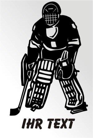 Hockey Aufkleber Autoaufkleber mit Text. MO03