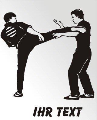 Karate Aufkleber Autoaufkleber mit Text MO05