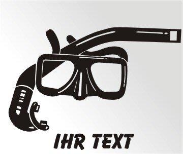 Schnorcheln Aufkleber Autoaufkleber mit Text