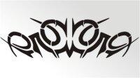 Tribal Aufkleber als Autoaufkleber Tattoos MO01