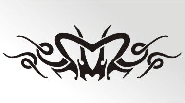 Tribal Aufkleber als Autoaufkleber Tattoos MO02