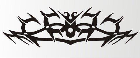 Tribal Aufkleber als Autoaufkleber Tattoos MO04