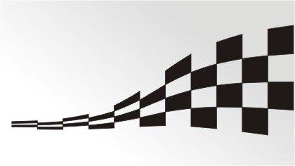 Racing Flagge Aufkleber MO04