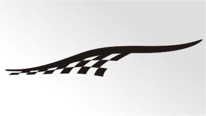 Racing Flagge Aufkleber MO07