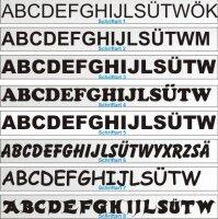 Buchstaben Aufkleber selbst gestalten Buchstaben Groß