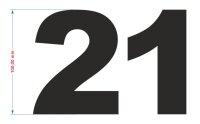 Zahlen Aufkleber selbst gestalten Zahl Ziffer Nummer...
