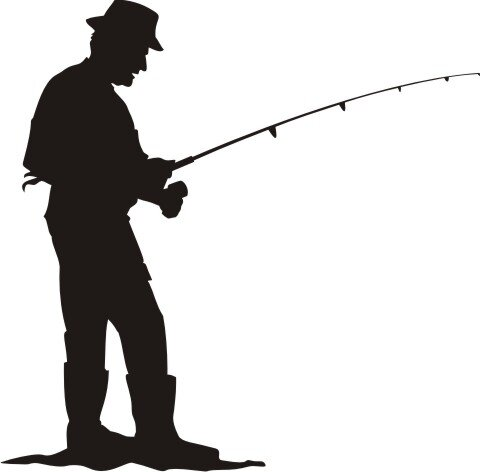 Angler Wandtattoo Angeln Wandaufkleber Mo03