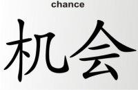 Aufkleber China Zeichen Chance Chinazeichen Sticker