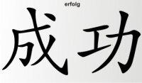 Aufkleber China Zeichen Erfolg Chinazeichen Sticker