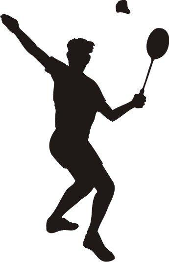 Badminton Wandtattoo Wandaufkleber