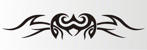 Tribal Aufkleber als Autoaufkleber Tattoos MO08
