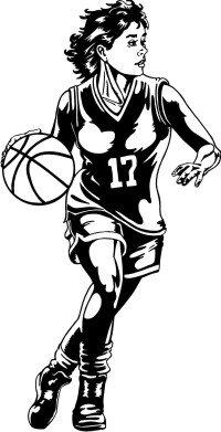 Basketball Girl Wandtattoo Wandaufkleber MO02