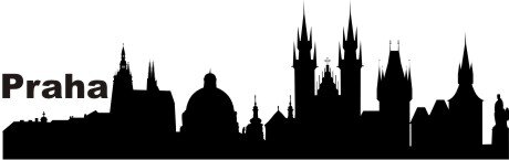 Wandtattoo Skyline Prag