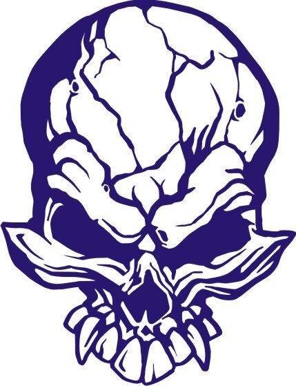 Totenkopf Wandtattoo, Skull Walltattoo MO01