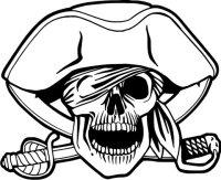 Totenkopf Wandtattoo, Skull Walltattoo MO02