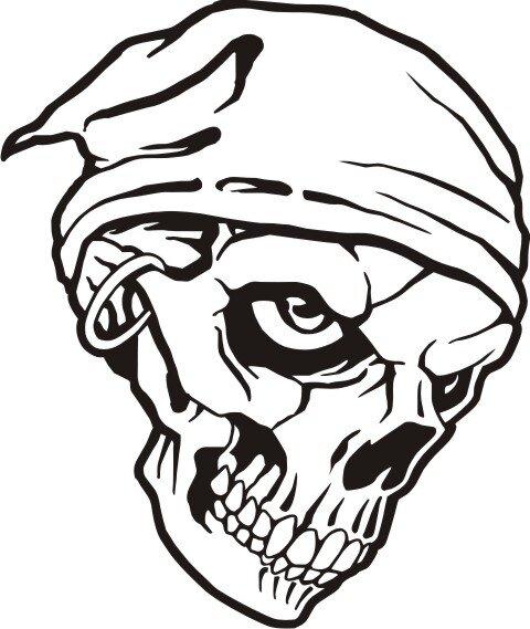 Totenkopf Wandtattoo Skull Walltattoo Mo05